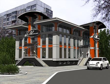 Архитектурный проект бизнес (изначальная версия - оздоровительного) центра на Васильевской в г. Орле