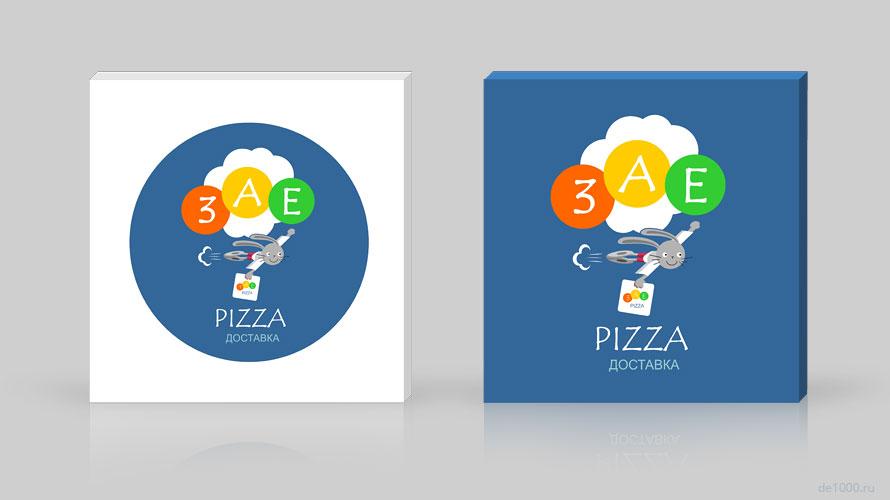 Заепицца. Нейминг, логотип, фирменный стиль для службы доставки пиццы