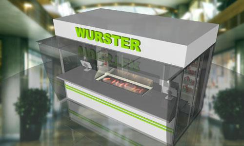 Дизайн павильона фастфуда Вюрстер