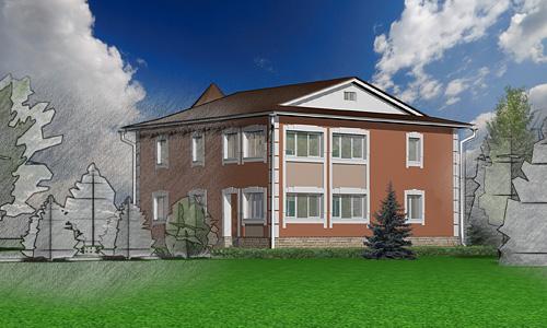 Дизайн-проект апгрейда фасада загородного дома