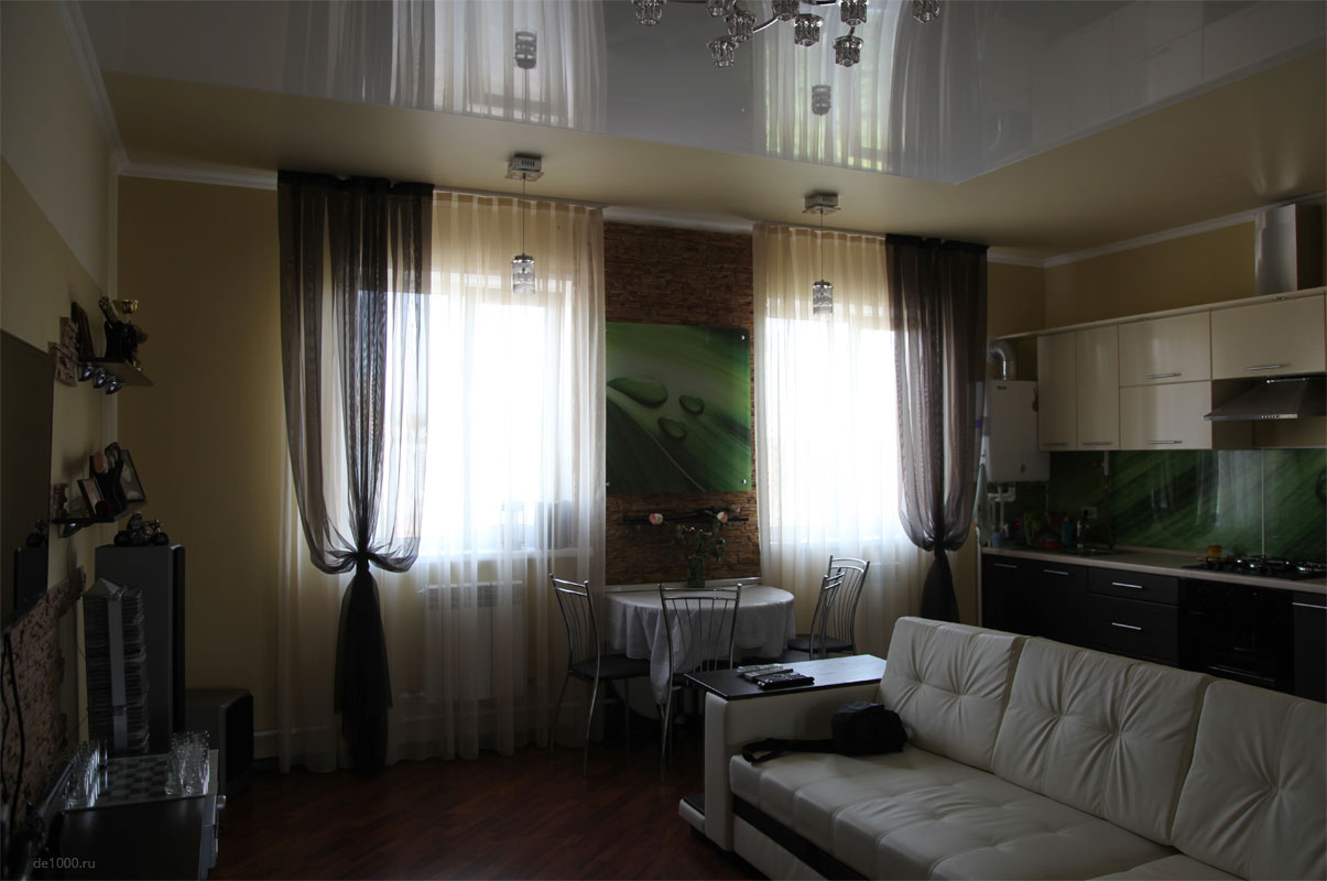 Готовый интерьер квартиры, выполненный по проекту Дизайн-сервис