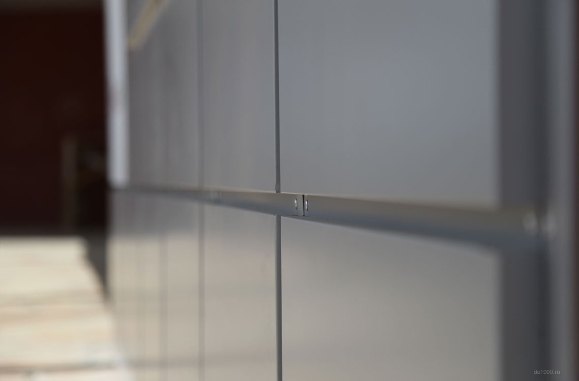 Кассеты из композитного алюминия. Вентилируемый фасад