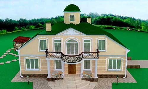 Губернское Рококо, эскизный проект коттеджа в Орловской области