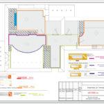 Схема монтажа элементов интерьера. Часть дизайн-проекта