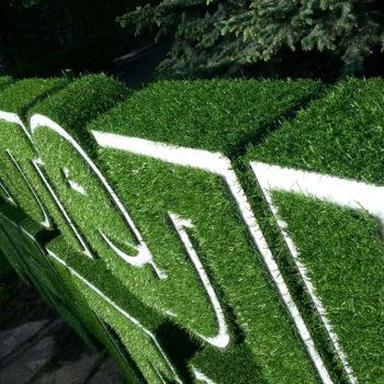 Травяные буквы