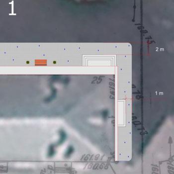 Схема благоустройства прилегающей территории. Раскладка тротуарной плитки