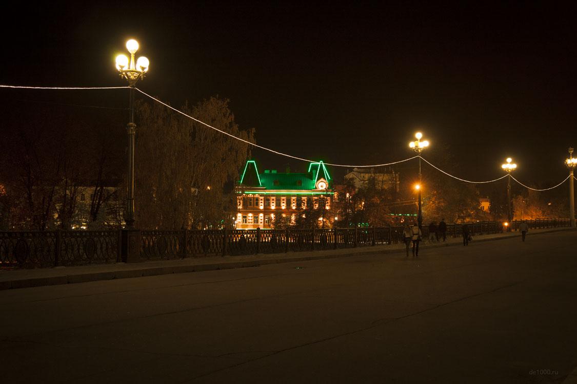 Проект архитектурной подсветки фасада. Здание Центробанка РФ в Орле