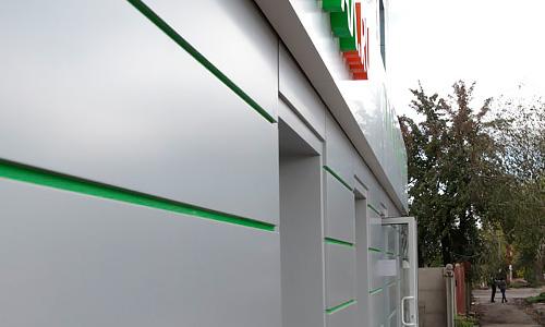 Вентилируемый фасад, наружная реклама магазина Install на Городской