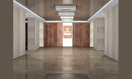 Дизайн интерьера фойе и галереи почетных граждан г.Орла в здании администрации г.Орла