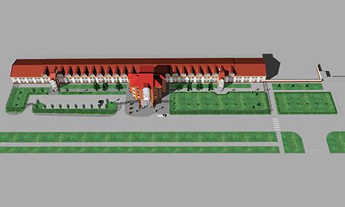 Завод Коммаш, проект благоустройства фасада и прилегающей территории