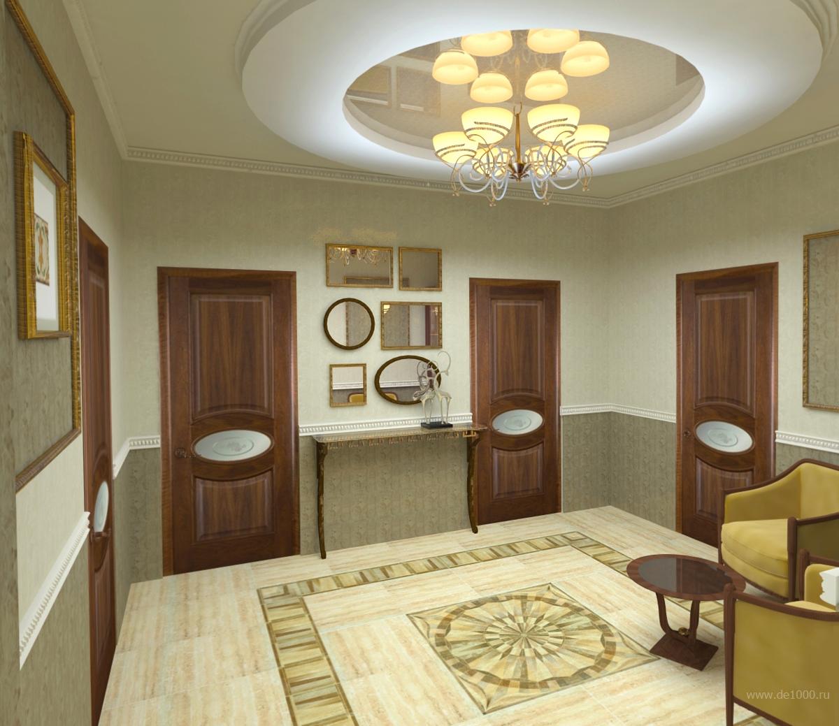 Холл. Дизайн интерьера. Трехмерная визуализация