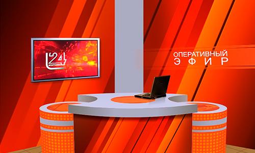 Дизайн оформления телестудии ТРК Истоки в Орле.