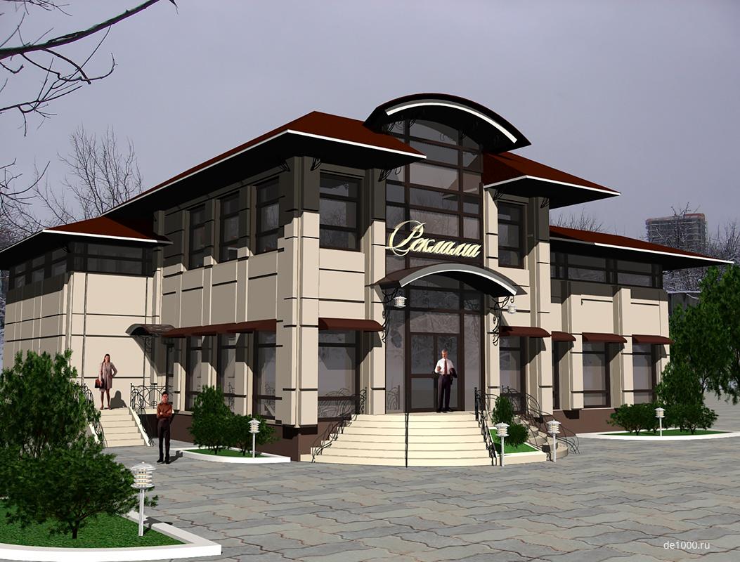 Дизайн-проект небольшого торгового центра
