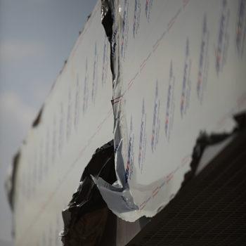 Композитный алюминий. Элементы на фасаде здания