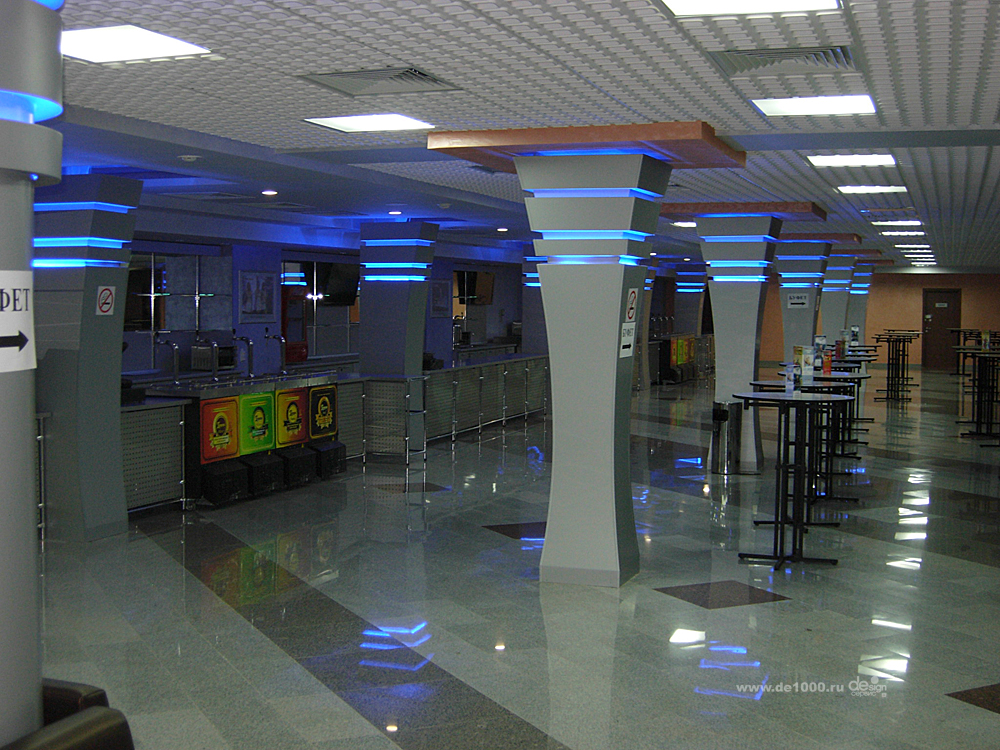 Интерьер фойе концертного зала ГриНН в Орле. Дизайн и реализация под ключ Дизайн-сервис