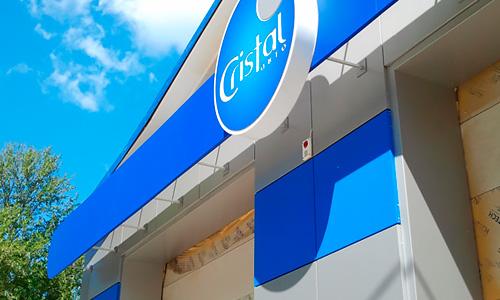 Вентилируемый фасад, вывеска для автомойки Кристалл в Орле