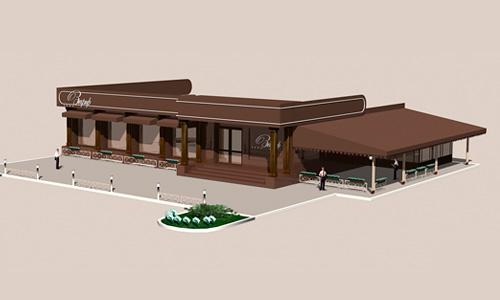 Дизайн проект ресторана Зефир