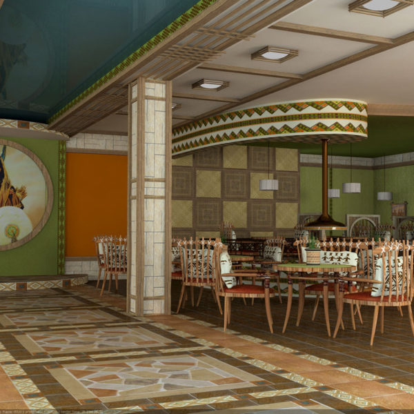 """Дизайн интерьера. Ресторан """"Тотем"""""""