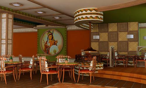 Дизайн интерьеров этно-ресторана Тотем. Логотип, фирменный стиль