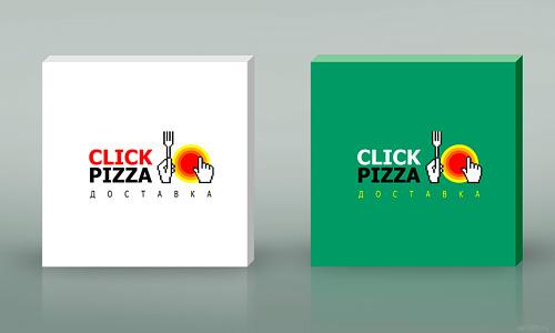 Нейминг, логотип, фирстиль, дизайн упаковки. Доставка пиццы Click Pizza