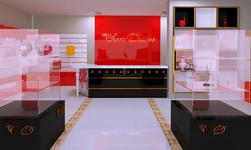 Дизайн интерьера, бренд дизайн для бутика Sweet Dreams