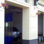 Фасад из композитного алюминия. Автомойка. Дизайн, производство, монтаж под ключ