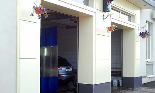 Вентилируемый фасад из композитного алюминия для автомойки Автобаня в Орле