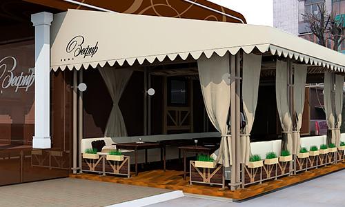 Проект летнего кафе «Зефир»