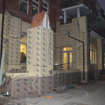 Монтаж вентилируемого фасада в Орле. Сбербанк РФ, центральный офис
