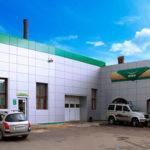 Вентилируемый фасад автосалона УАЗ в Орле