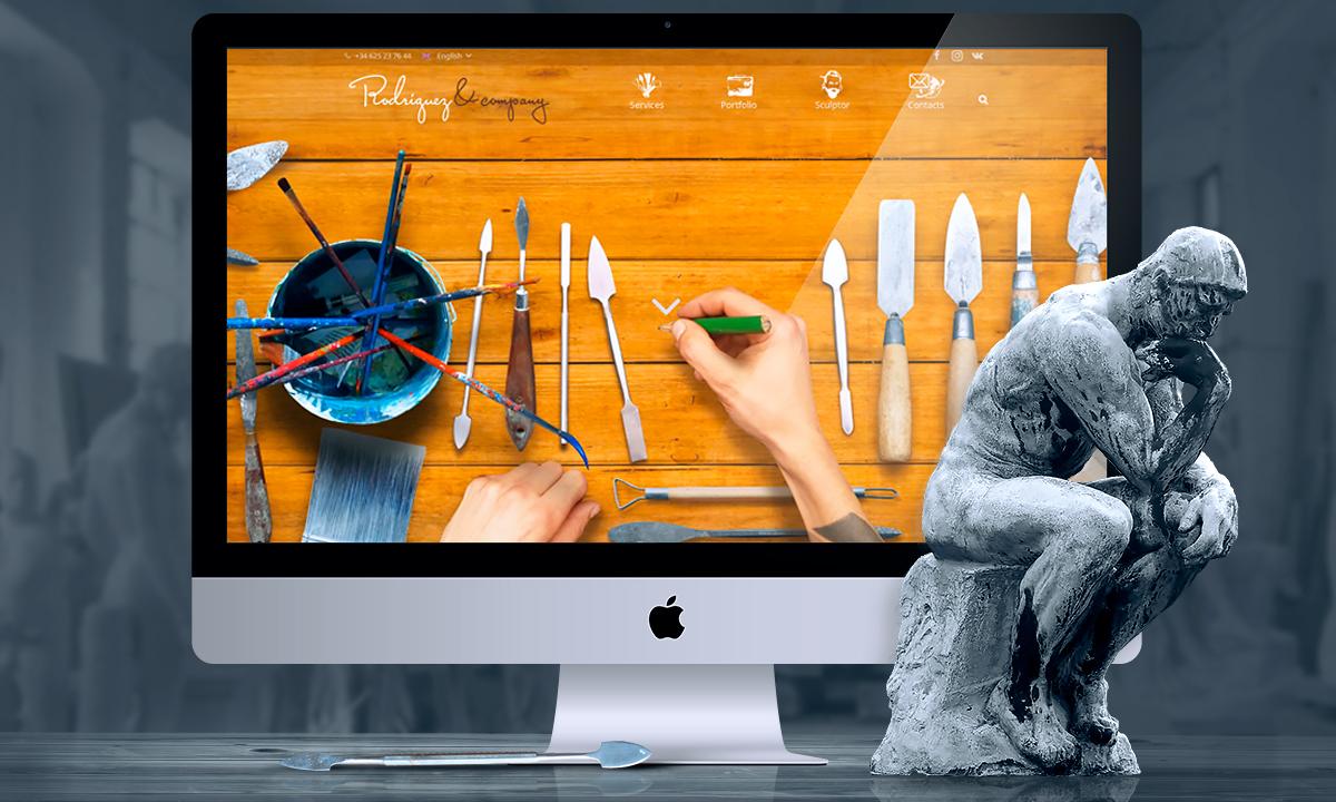 Сайт под ключ для испанского скульптора Эмилио Родригеса