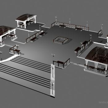 """""""Фуршетная"""" зона для парк-отеля Мечта в Орле. Проект, трехмерная визуализация"""