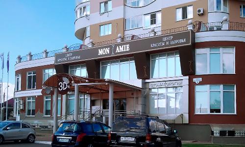 Наружная реклама, рекламное оформление экстерьера салона красоты Mon Ami