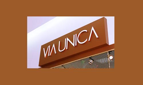 Наружная реклама для магазина сети Via Unica в Орле
