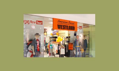 Вывеска, рекламное оформление бутика Westland