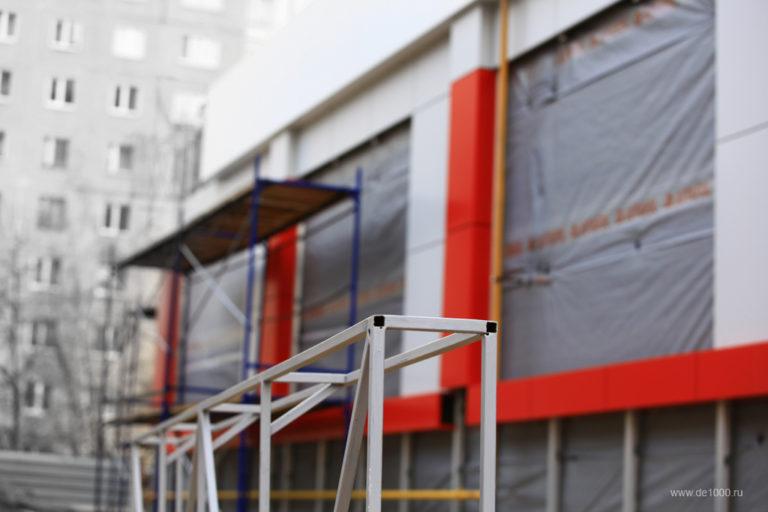 Фасад из алюминия в Орле