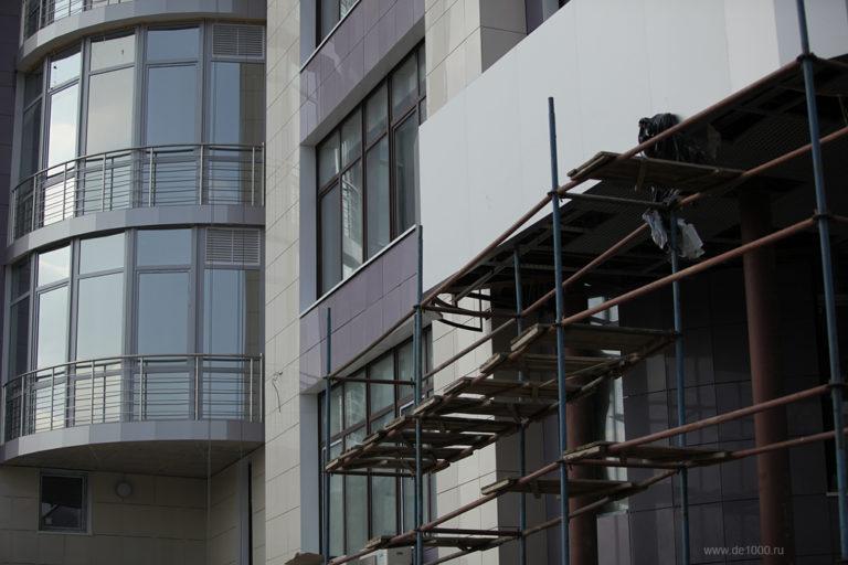 Монтаж вентилируемого фасада из металлокассет