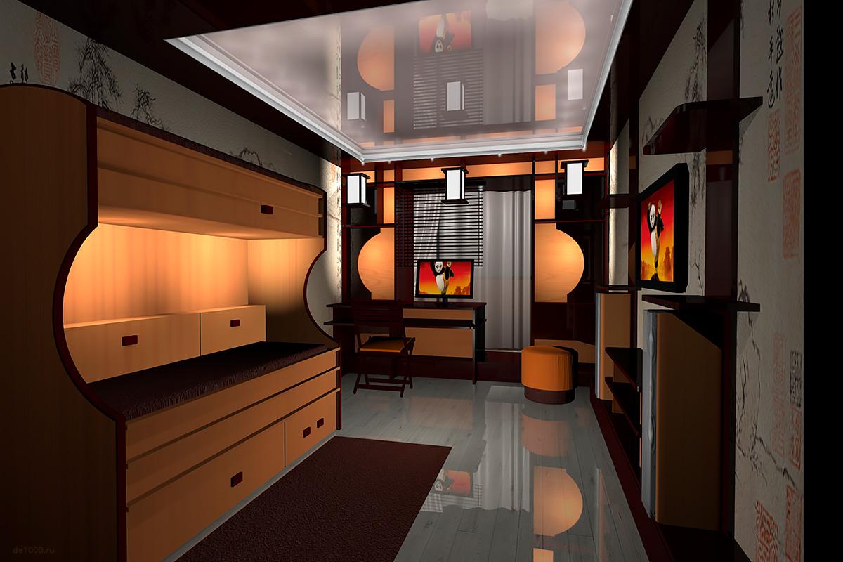 Karate Kid room interior design