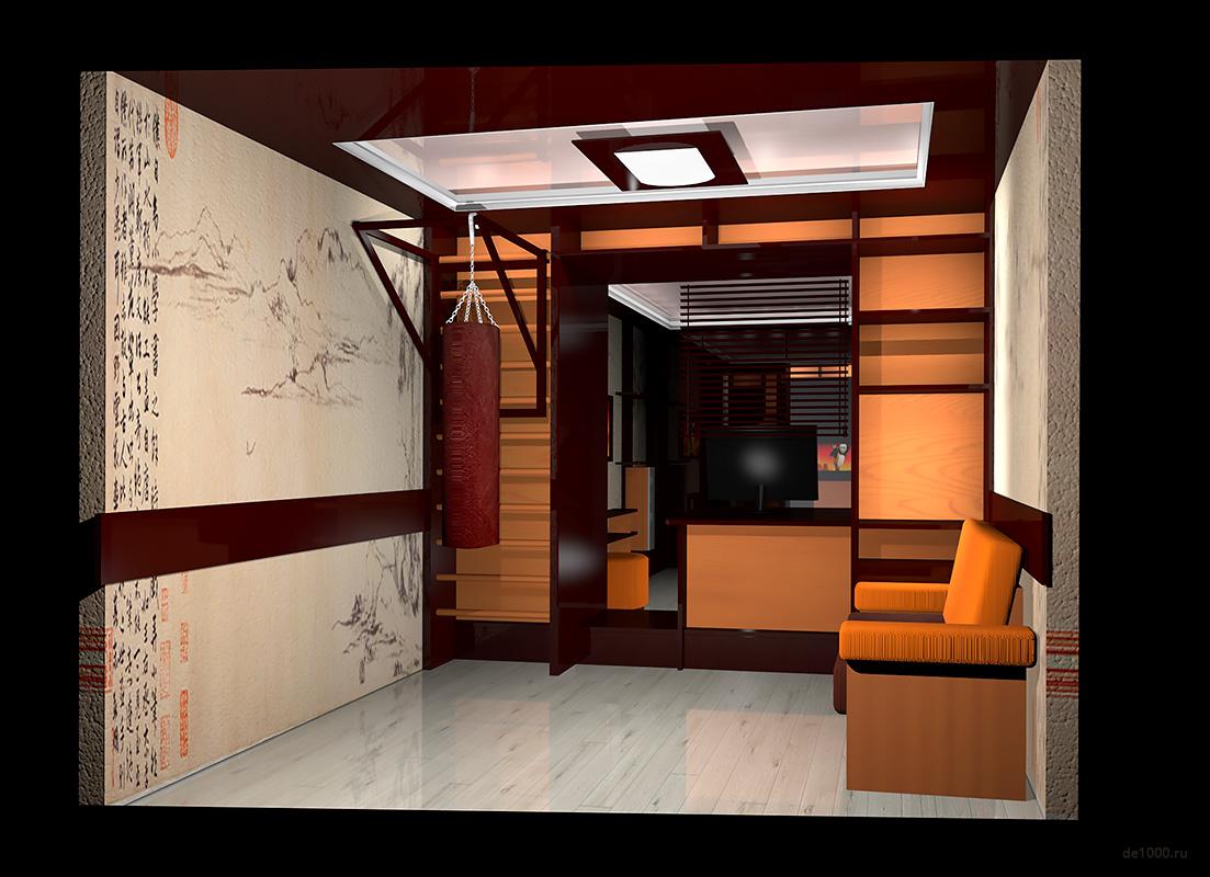 Дизайн интерьера балкона. Вариант