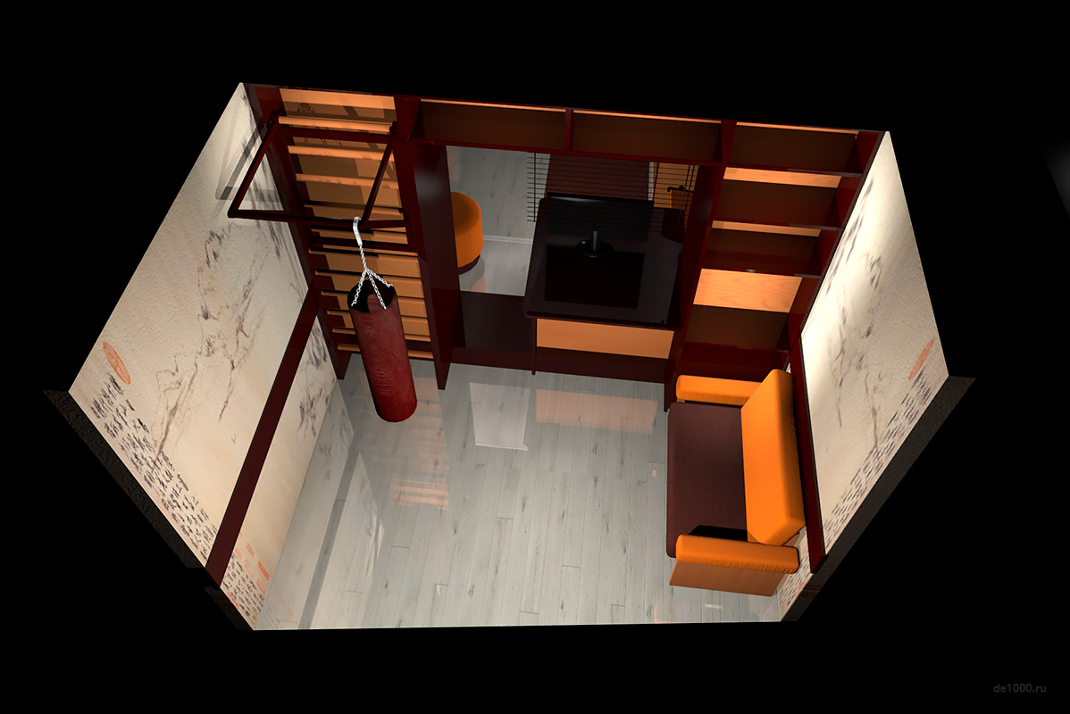 Балкон. Трехмерная визуализация