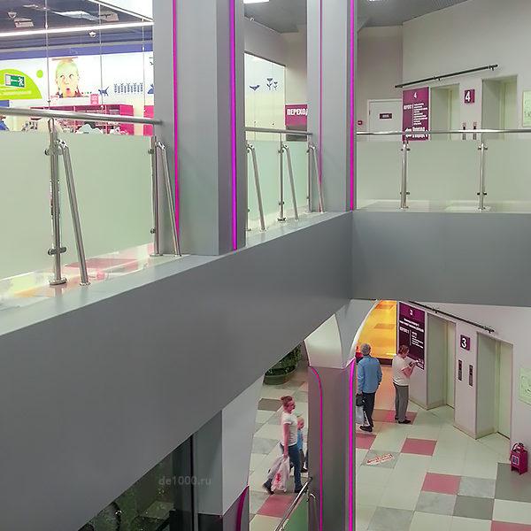 Дизайн интерьера и реализация под ключ. Лестничная зона ЦУМ Орел