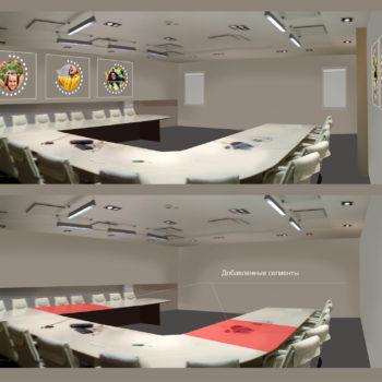 Планировка конференц-зала. Набросок концепции на фотографии. Что добавляем