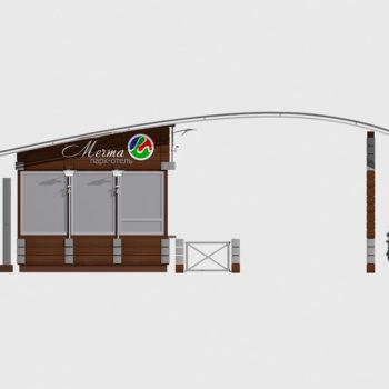 """КПП Парк-отеля """"Мечта"""". Проект"""