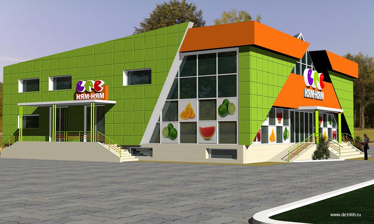 Проект торгового центра. Трехмерная визуализация