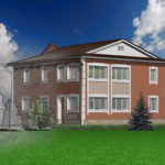 Дизайн проект благоустройства фасада загородного дома