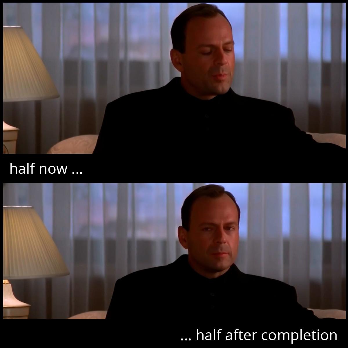 Половина сейчас, половина после исполнения. Принцип оплаты работы дизайнера от Дизайн-сервис