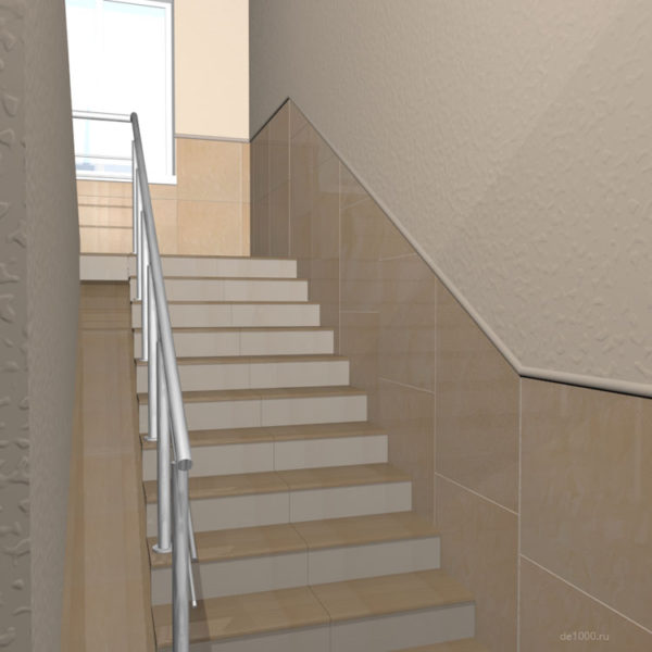 Дизайн интерьера лестничной зоны