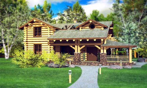 Дизайн-проект загородного дома. Сруб