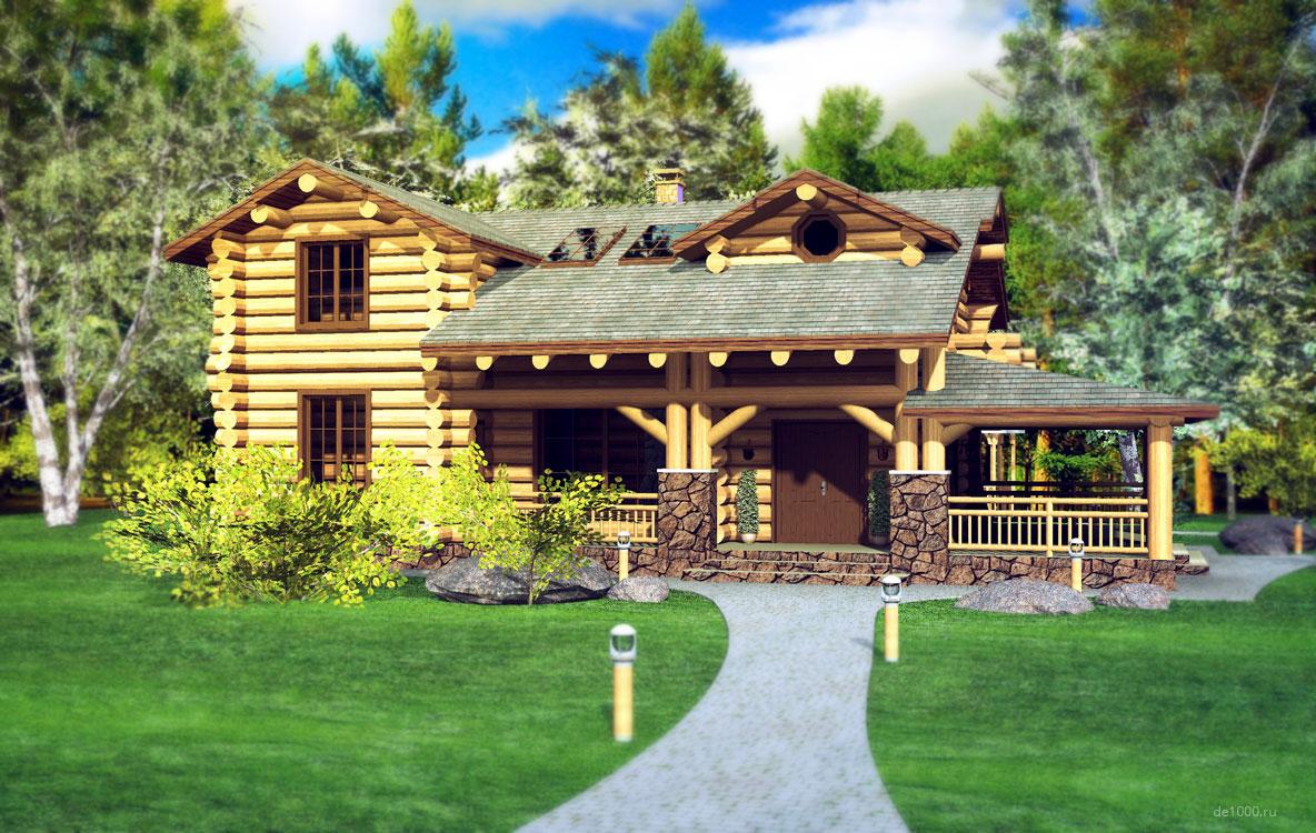Дизайн-проект загородного дома. Трехмерная визуализация
