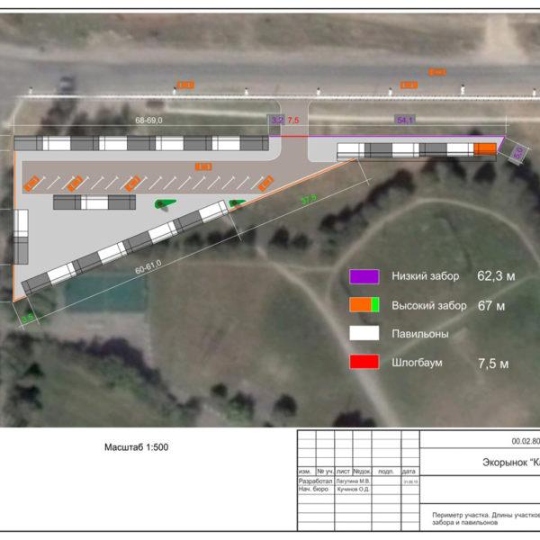 Планировка территории экорынка. Часть дизайн-проекта